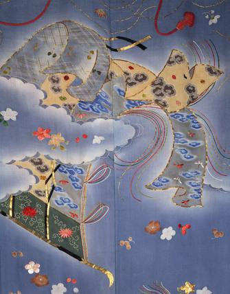 Kimono, detail. Japan, 19th century