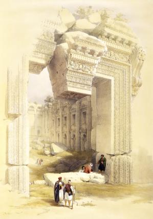 Baalbec, entrance to the temple of Bacchus, by David Roberts