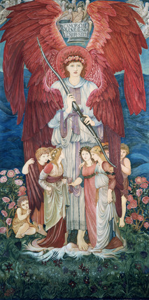 Design for tapestry, by Edward Burne-Jones