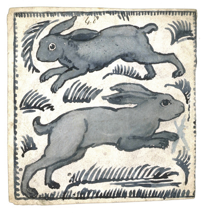 Tile design, by William de Morgan