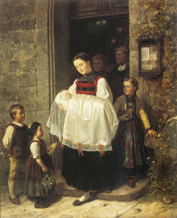 The Return From The Christening, by Hubert Salentin