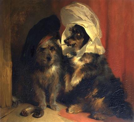 Comical Dogs, by Sir Edwin Landseer