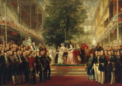 Opening of the Great Exhibition by Queen Victoria, by H.C. Selous