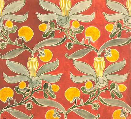 Passion Flower Textile, by C.F.A. Voysey