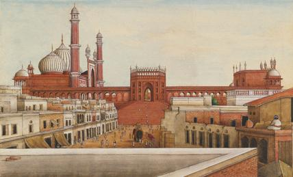View of the Jami Masjid, Pearl Mosque, by Mazhar Ali Khan