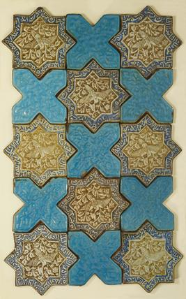 Panel of tiles. Persian, 15th century