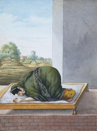 A Muslim Woman Worshipping