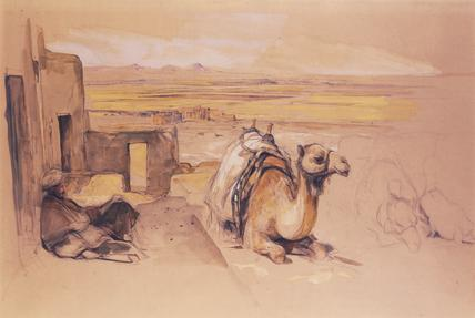 Camel, West Thebes, by John Frederick Lewis
