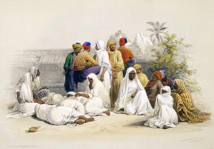 Group in the slave market, by David Roberts