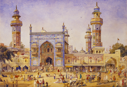The Mosque of Wazir Ali Khan at Lahore, Punjab, by William Carpenter