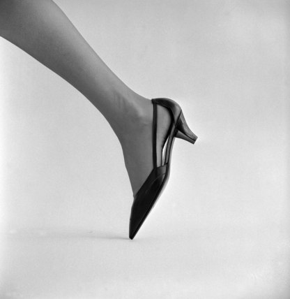 Black heeled shoe
