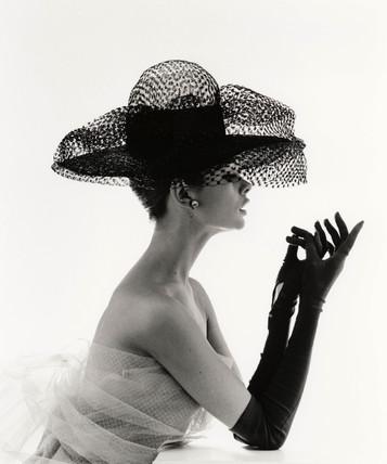 Tania Mallet in stiffened net hat