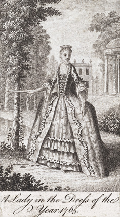 Lady in the dress of 1765