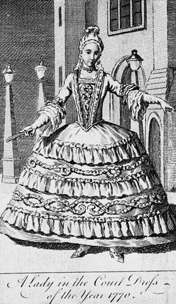 Lady in court dress