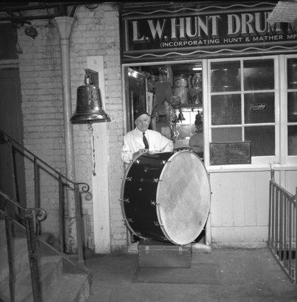 Len Hunt, legendary drum maker