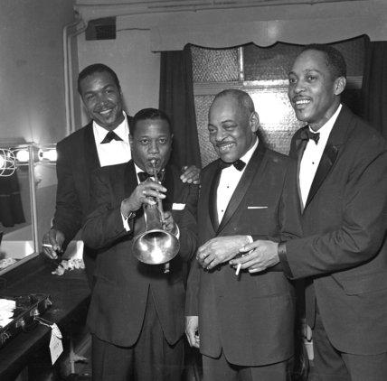 Jazz greats, Ben Webster, Roy Eldridge, Coleman Hawkins and Sonny Stitt