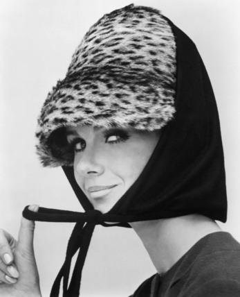 Jersey scarf over an ocelot hat