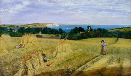 View across the Sandown Bay, Isle of Wight, by Richard Burchett