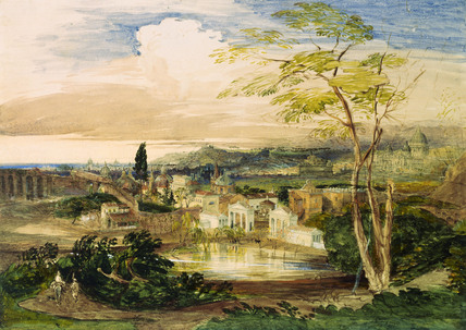 Rome from Borghese Gardens, by Samuel Palmer