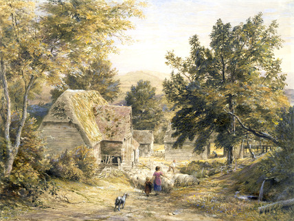 Farmyard Nr. Princes Risborough, by Samuel Palmer