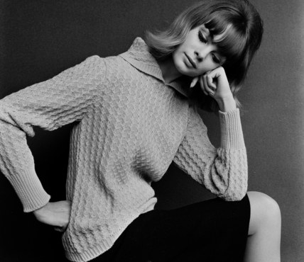 Model wearing a jumper
