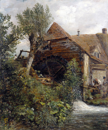 A Watermill at Gillingham, by John Constable