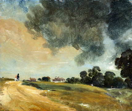 View of Hampstead, looking due East, by John Constable