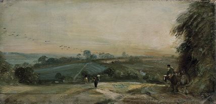 Autumnal Sunset, by John Constable
