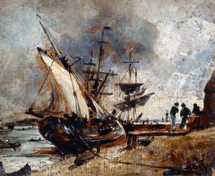 Shipping in the Orwell, by John Constable