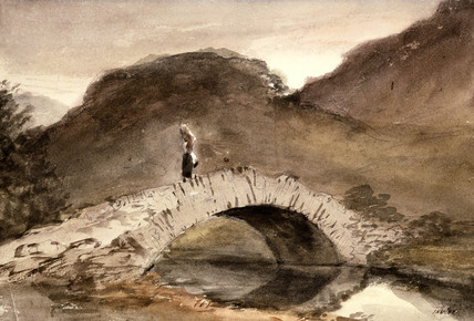 A bridge, Borrowdale, by John Constable