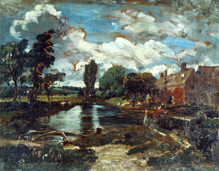 Flatford Mill from a Lock on Stour, by John Constable