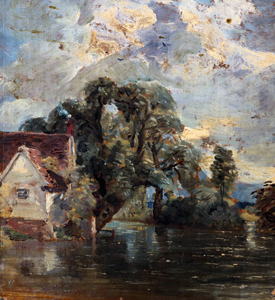 Willy Lott's house, by John Constable