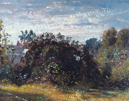 Study of sky and trees at Hampstead, by John Constable