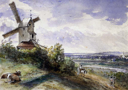 A windmill at Stoke, near Ipswich, by John Constable