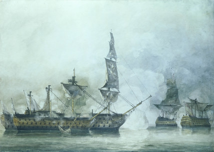 The Victory at The Battle of Trafalgar, by John Constable
