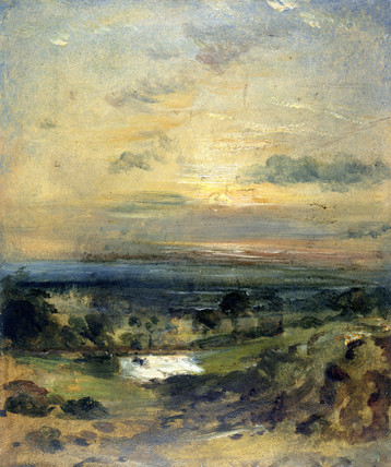 Branch Hill Pond, Hampstead Heath, by John Constable