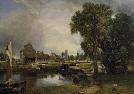 Dedham Mill, by John Constable