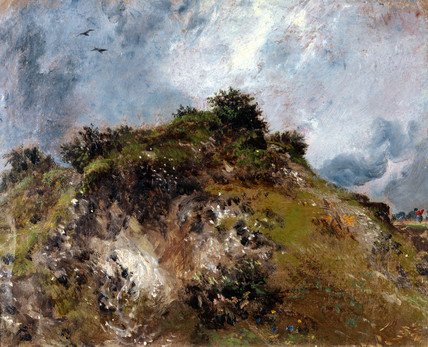 A Sand bank at Hampstead Heath, by John Constable