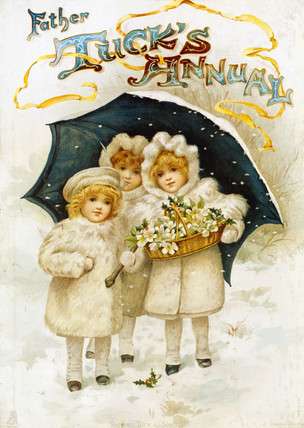 Christmas, Cover from an Annual-Father tuck