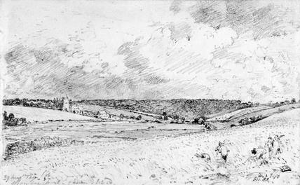 Churn Wood & Greenstead Church, by John Constable