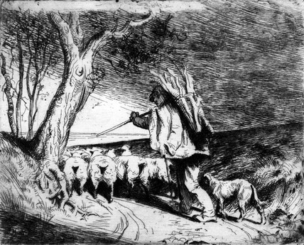 Sheperd Returning Home with his Flock, by Brian Hatton