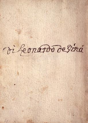 Leonardo da Vinci's Signature