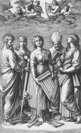 St Cecilia, by Marcantonio Raimondi