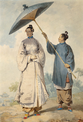 Chinese lady with attendant, by William Alexander