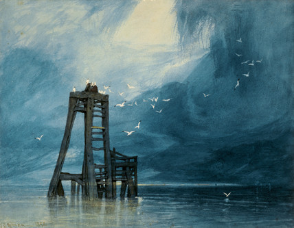 Study of Sea and Gulls, by John Sell Cotman