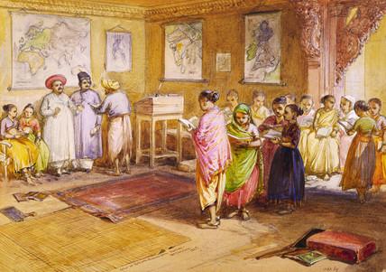 School of Mahratta Brahmin girls, by William Simpson