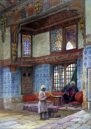 Interior of a house in Cairo, by Frank Dillon
