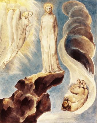 The Third Temptation, Matthew IV, by William Blake