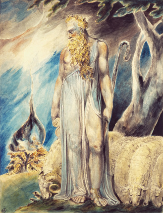 Moses and the burning bush, by William Blake