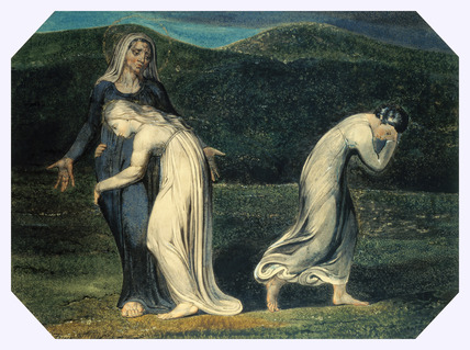Naomi entreating Ruth and Orpah to return to the Land of Moab, by William Blake